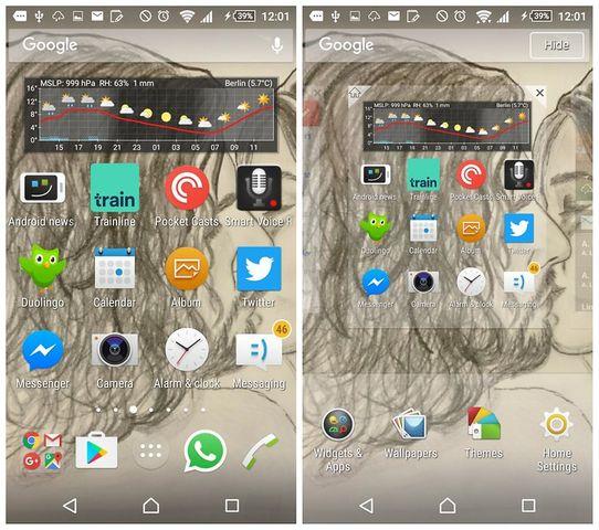Как удалить панель поиска Google с домашнего экрана Android смартфона