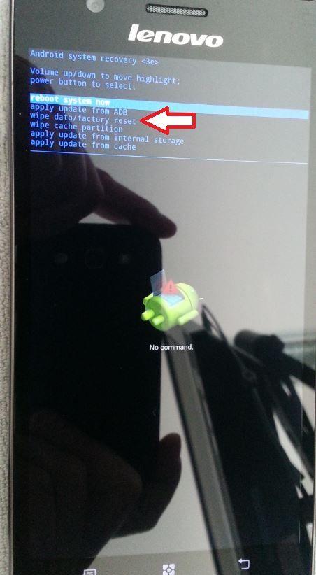 Как сделать сброс андроида через рекавери