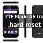 ZTE Blade A6 Lite Hard Reset и сброс настроек (2 способа)