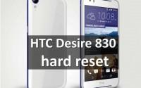 HTC Desire 830 hard reset: возвращаем заводские настройки