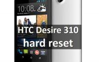 HTC Desire 310 hard reset: сброс к заводским настройкам