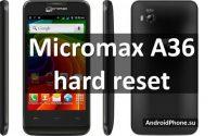 Micromax A36 hard reset и сброс настроек через компьютер